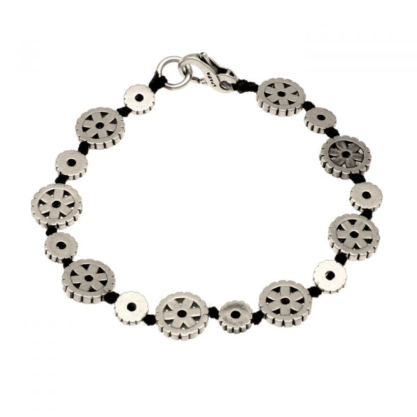 Bracciale motivo geometrico in argento e nodini Spadarella