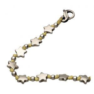 Bracciale con stelline in argento e nodini Spadarella.