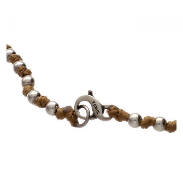 Collana in argento e nodini TWO Spadarella