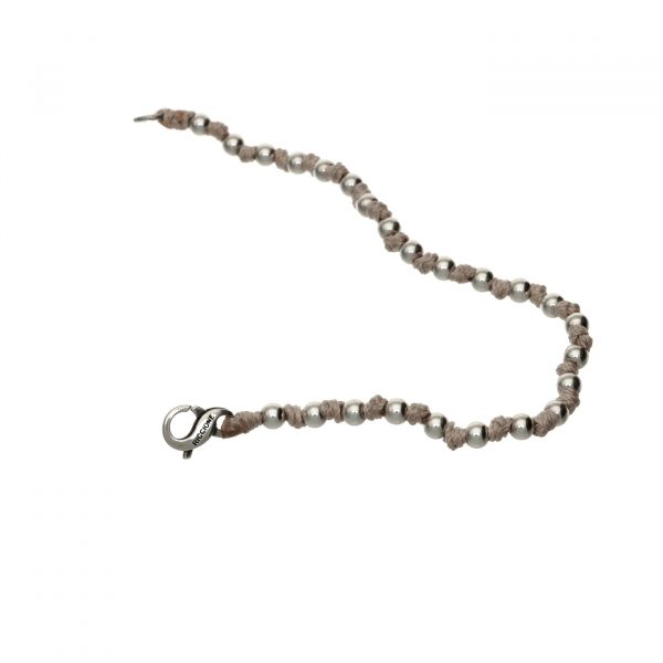 Bracciale con palline in argento e nodini Spadarella