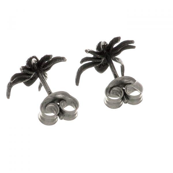 Orecchini a lobo a forma di ragno in argento Spadarella