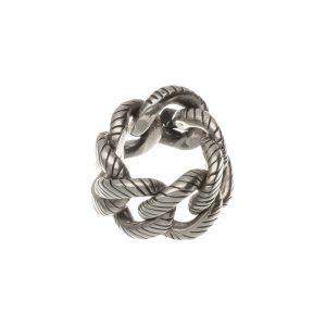 Fascia in argento a catena rigata Spadarella