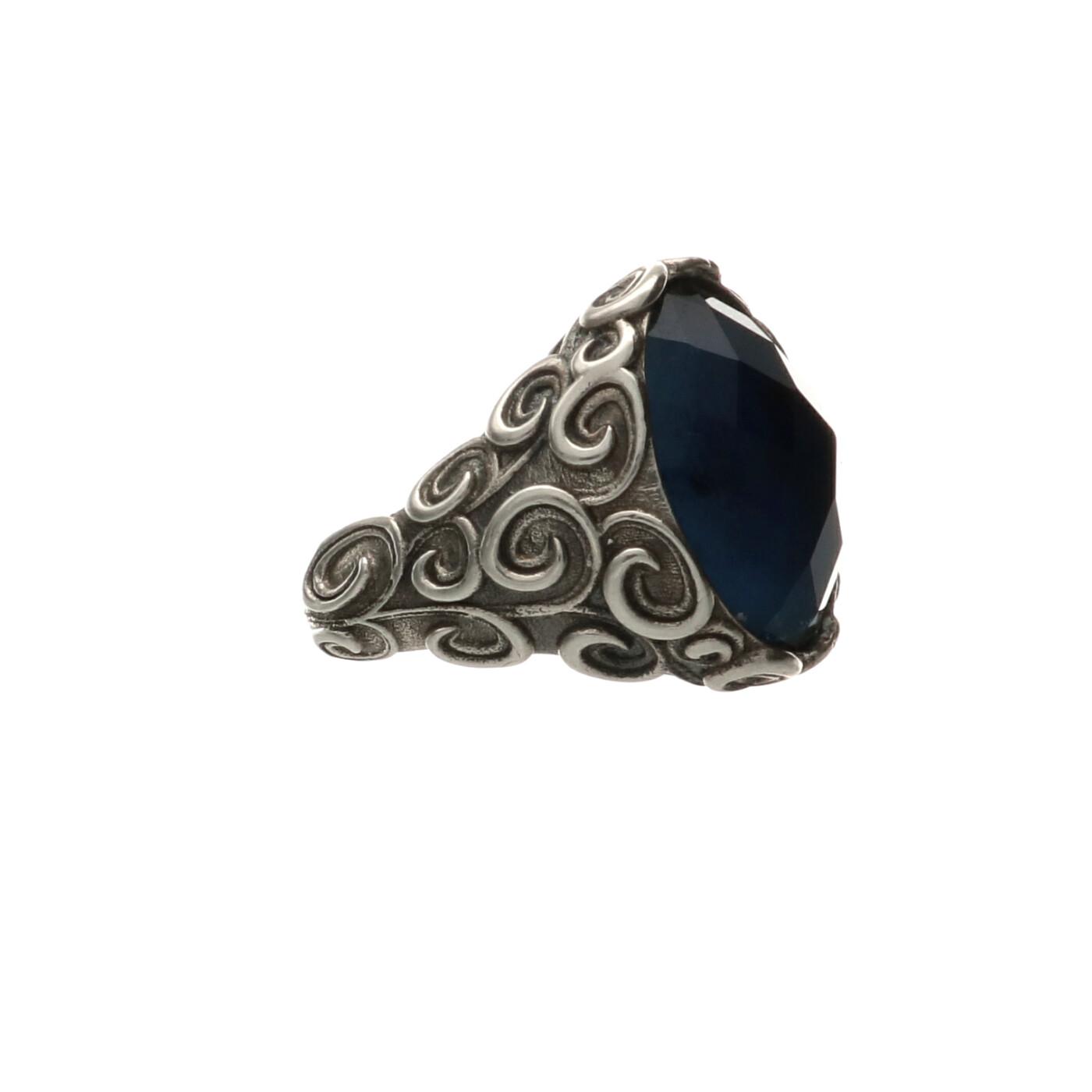 shop outlet online presa all'ingrosso Anello in argento con pietra naturale - Spadarella
