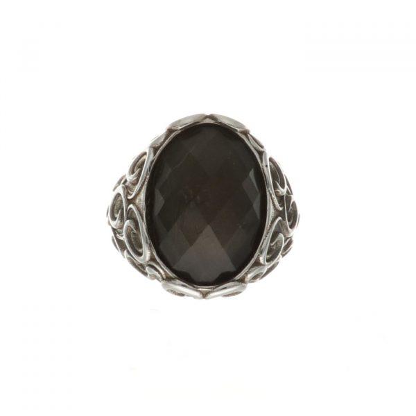 Anello in argento con pietra naturale Spadarella