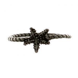 Fedina in argento lavorato con stella marina centrale Spadarella