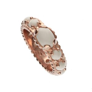 Anello in argento rosato e pietre naturali Spadarella