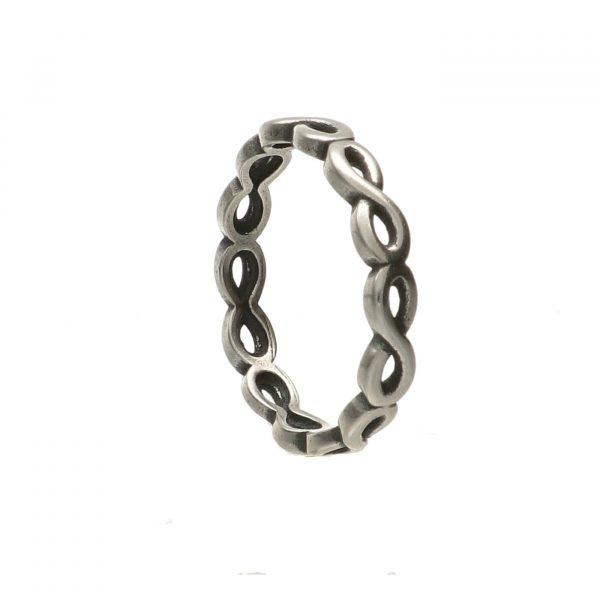 Fedina in argento con simbolo dell'infinito - Spadarella