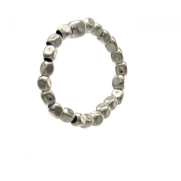 Anello elastico con pepite in argento Spadarella