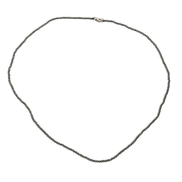 Collana in Ematite scura Spadarella