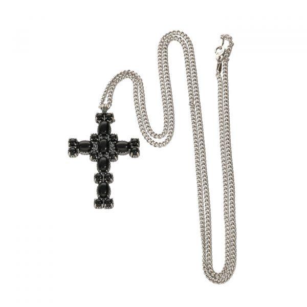 Collana in argento unisex e croce Spadarella