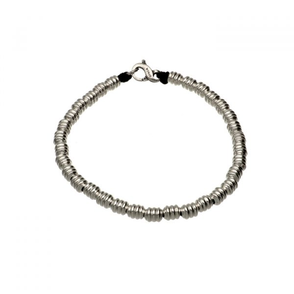 Bracciale con cilindretti in argento Spadarella