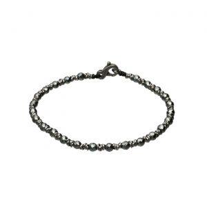 Bracciale con Ematite scura e anelline in argento Spadarella