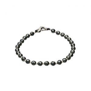 Dolce vita - Bracciale con Ematite scura e palline in argento Spadarella