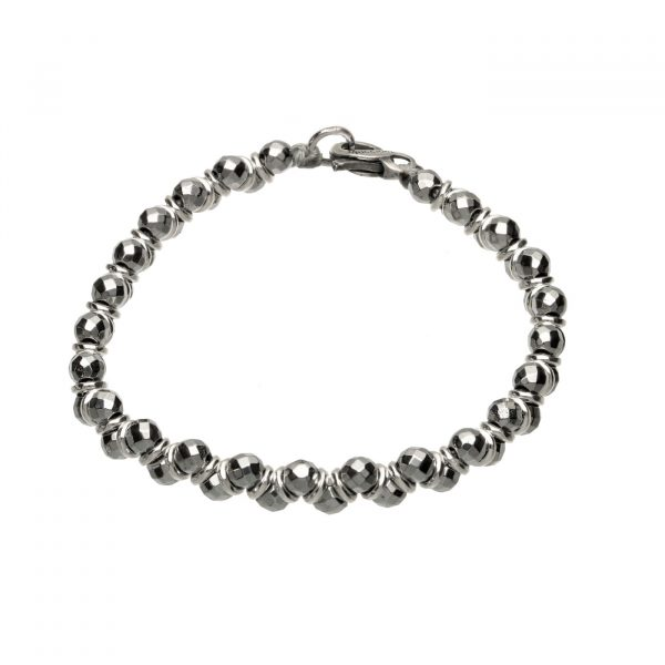 Bracciale con anelle in argento ed Ematite Spadarella