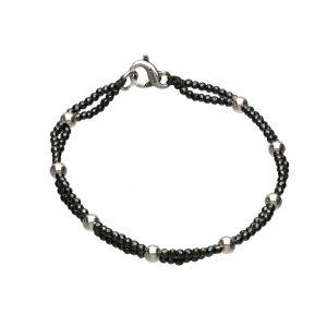 Bracciale con palline in argento ed Ematite scura Spadarella.