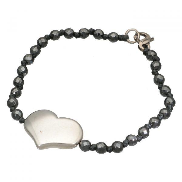Bracciale pietre con cuore e chiusura in argento Spadarella