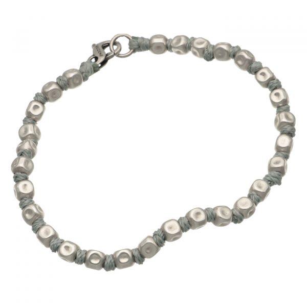 Bracciale con pepite in argento e nodi Spadarella