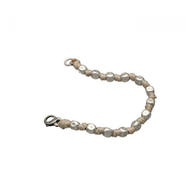Bracciale con maxi pepite in argento e nodi Spadarella