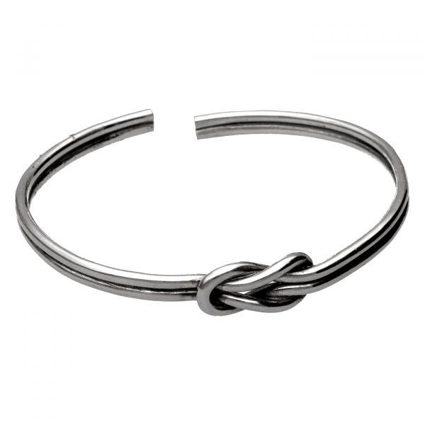 Bracciale rigido con doppio nodo in argento Spadarella