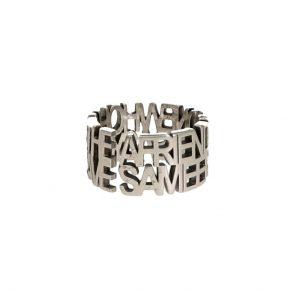 Anello a fascia in argento con frase di Abramo Lincoln Spadarella