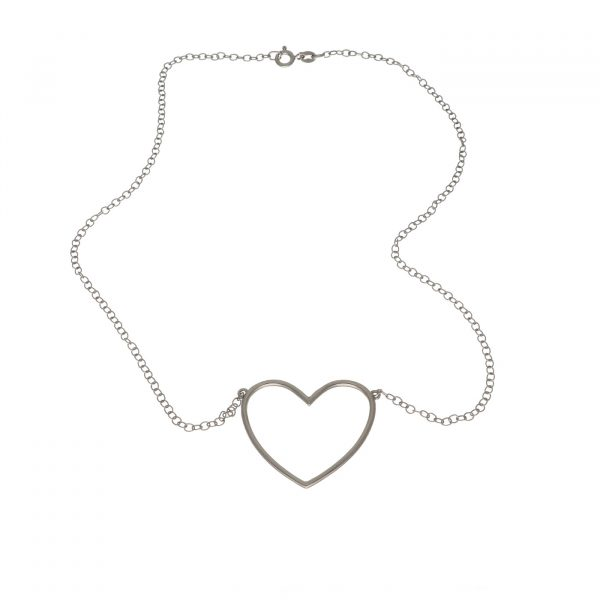 Collana in argento con ciondolo a forma di cuore Spadarella