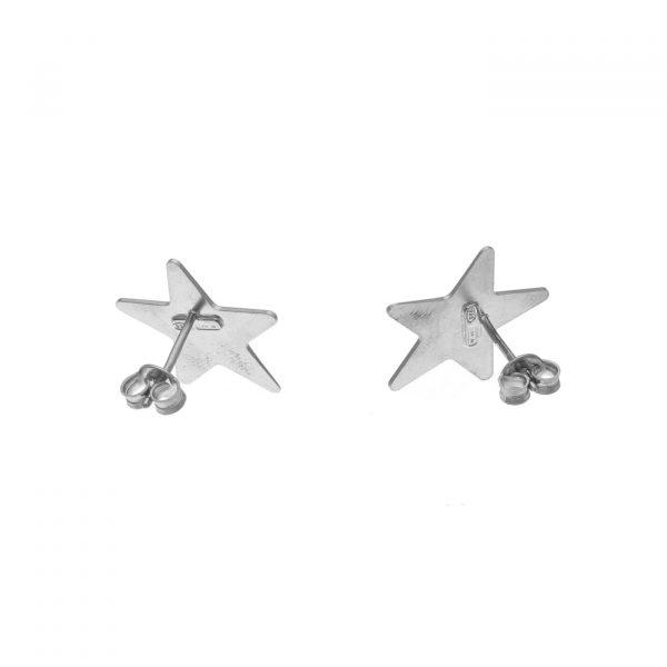 Orecchhini in argento a forma di stella