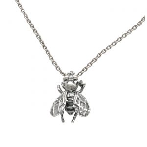 Collana in argento con ciondolo a forma di mosca - Spadarella