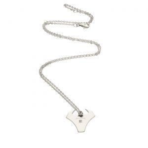 Collana in acciaio e ciondolo a forma di Toro con diamantino - Nomination