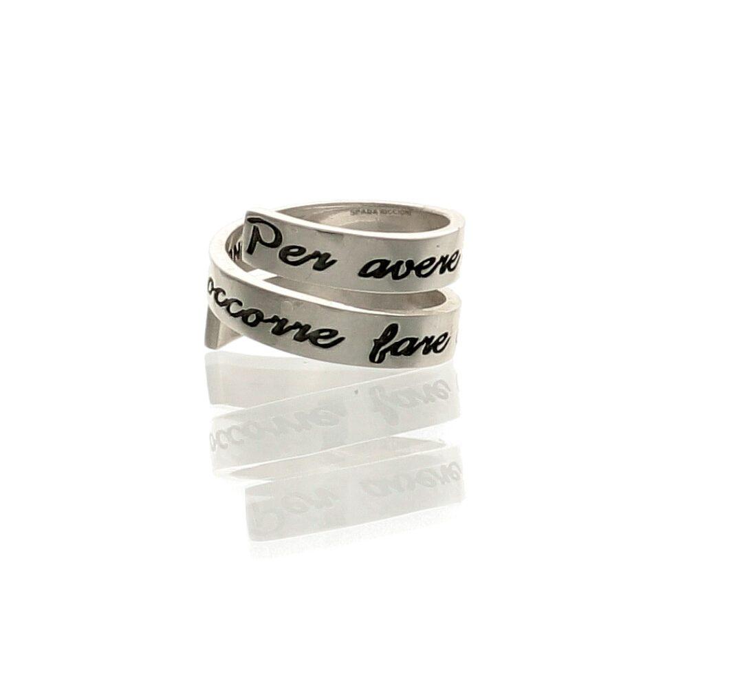 colori e suggestivi seleziona per genuino prezzi di sdoganamento Anello a spirale in argento con frase - Spadarella