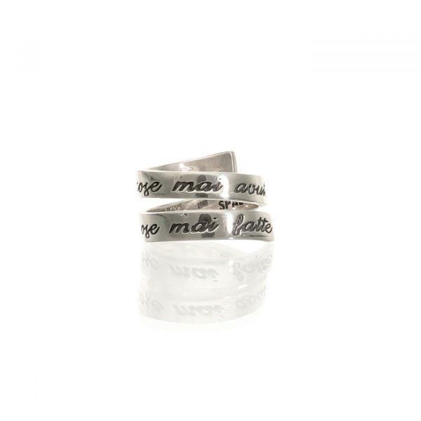 Anello a spirale in argento con frase - Spadarella