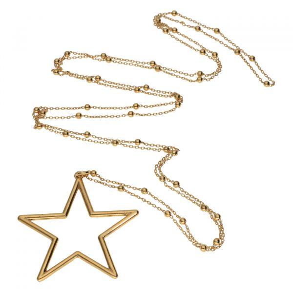 Collana in argento dorato con ciondolo a stella Spadarella