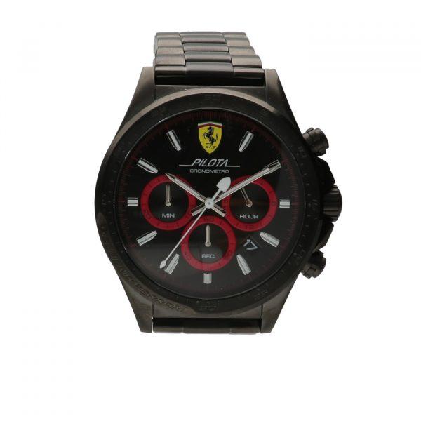 Orologio Scuderia Ferrari - Pilota, cronografo in acciaio PVD Nero