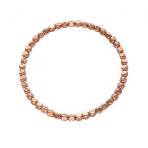 Bracciale ad elastico in argento bagnato nell'oro rosa con pepite schiacciate