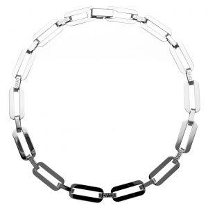 Collana a catena in ottone color argento - Liu Jo