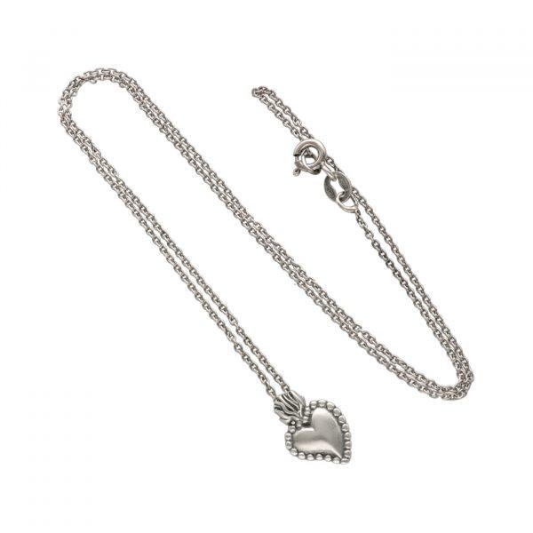 Collana in argento con ciondolo ex voto - Spadarella