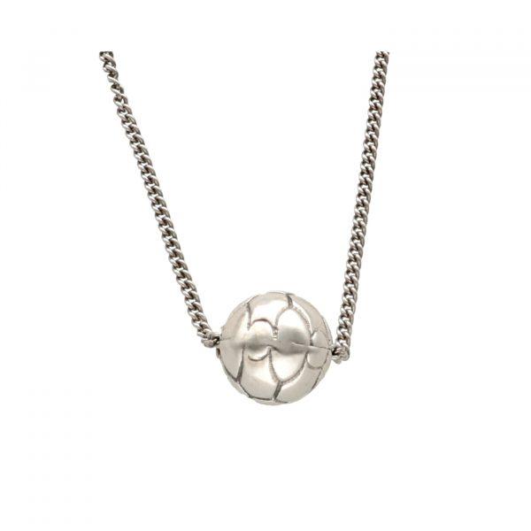 Collana in argento con ciondolo a forma di palla da calcio - Spadarella