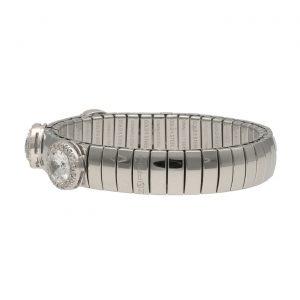 Bracciale ad elastico in acciaio e Swarovski - Zoppini