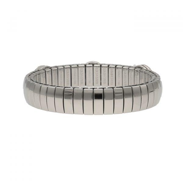 Bracciale ad elastico in acciaio con pietre dure - Zoppini
