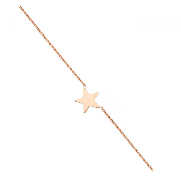 Choker in argento rosato con stella