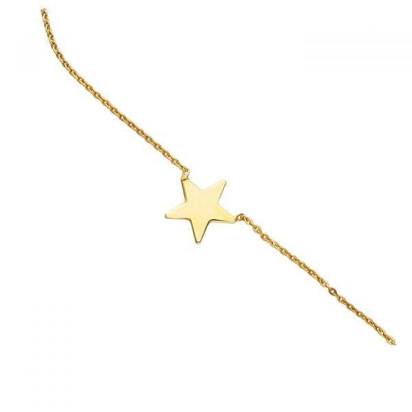 Choker in argento dorato con stella