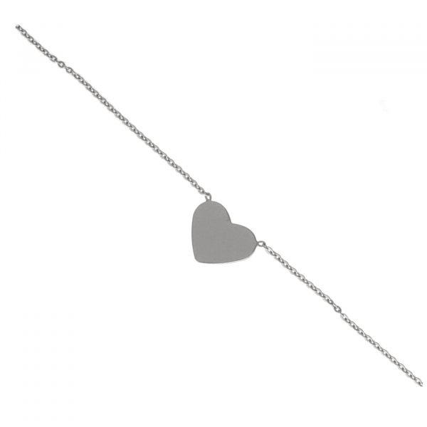 Choker in argento con cuore
